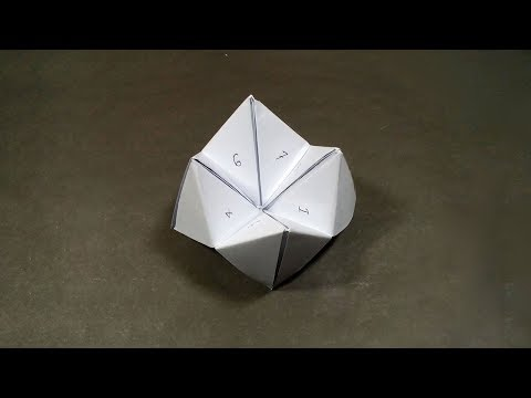 How to make a Paper Fortune Teller - DIY Origami Fortune Teller Instructions