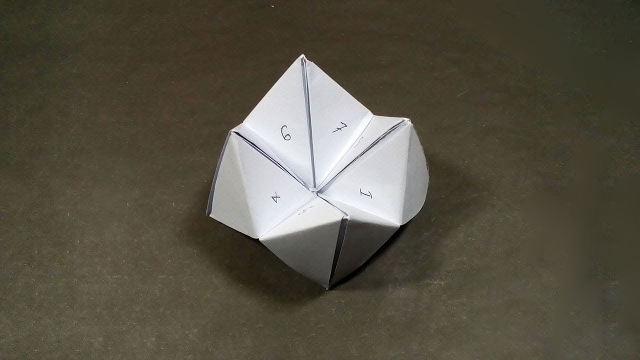 How To Make A Paper Fortune Teller Diy Origami Fortune Teller