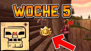 TREASURE MAP GREASY GROVE! Fortnite Week 5 Treasure Search Battle Pass Season 4