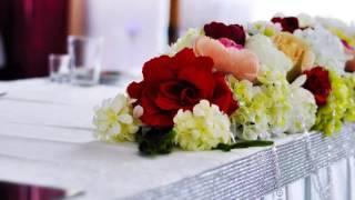 Свадебный декор зала: роскошь марсала