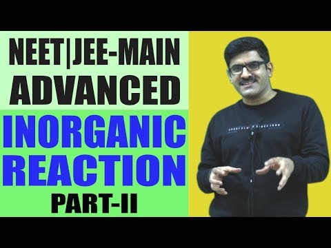Inorganic Reaction Part-II for JEE Main/Advance/NEET