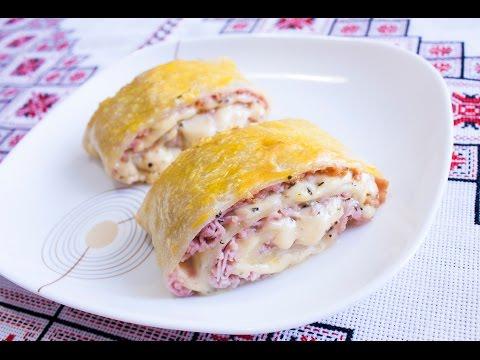 Пицца из слоеного теста кулинарный рецепт