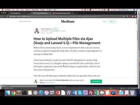How to Upload Multiple Files via Ajax VueJs and Laravel 5 5