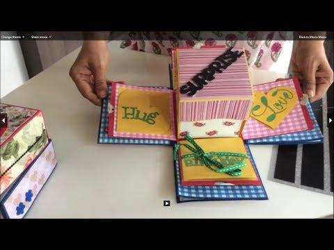 Love birthday explosion box /DIY exploding box/ Ideas to make explosion box birthday card for lovers