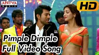 Pimple Dimple Full Video Song  Yevadu Video Songs  Ram Charan, Shruti Hassan