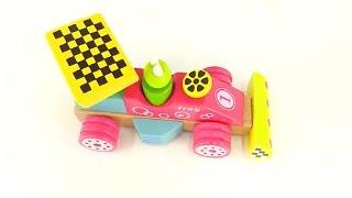 Игрушки. Деревяная машинка. Конструктор. Развивающее видео для детей(Развивающее видео для малышей про деревянную машинку-конструктор. Сегодня мы распакуем деревянную гоночну..., 2015-08-05T11:01:55.000Z)