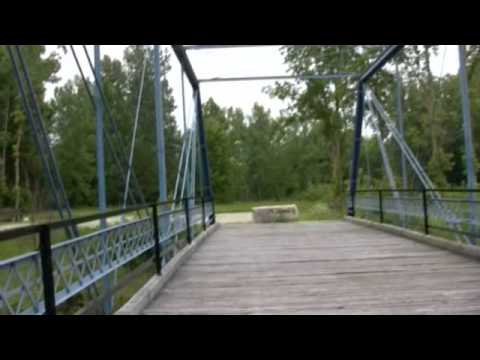 The Wabash and Erie Canal Trail in Delphi Indiana