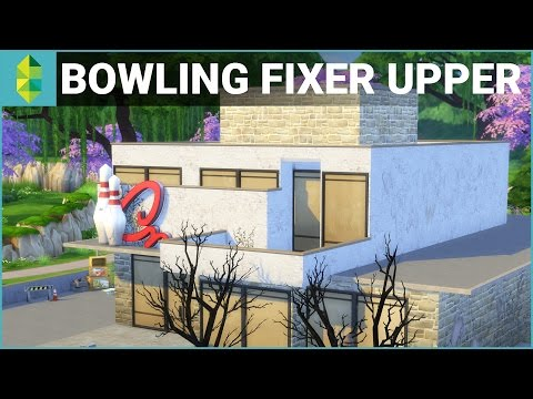 The Sims 4 Building - Bowled Over Challenge (Fixer Upper)