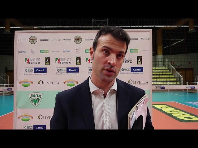 Volley A2M Matteo Battocchio dopo Cantù-Ortona