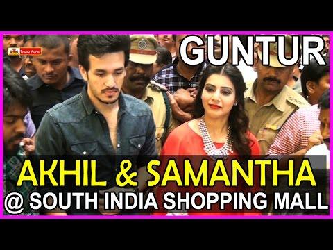 AKhil & Samantha @ South Indian Shopping Mall Opening at Guntur
