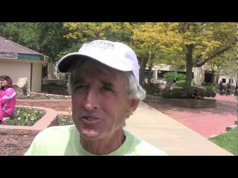 2011 Bolder Boulder pre race with Frank Shorter and Ryan Hall