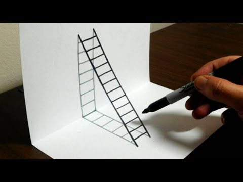 How to Draw a 3D Ladder - Trick Art For Kids