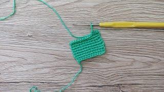 Как вязать крючком изнаночный столбик без накида Video