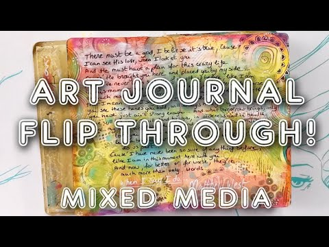 Mixed Media Art Journal Flip Through