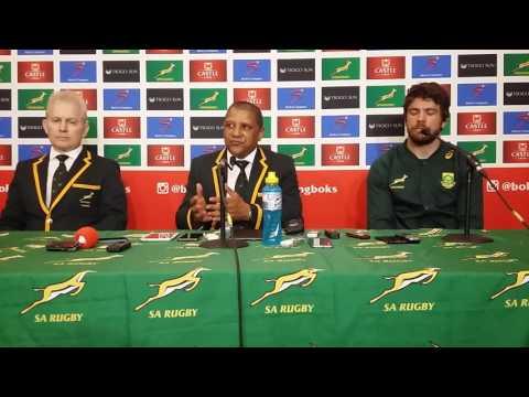 Allister Coetzee and Warren Whiteley after Springbok win over France