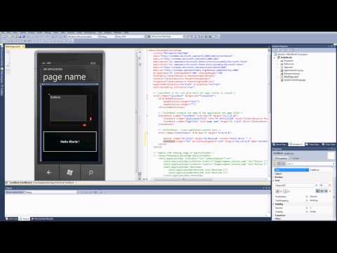 How to create a WP7 App - Hello World