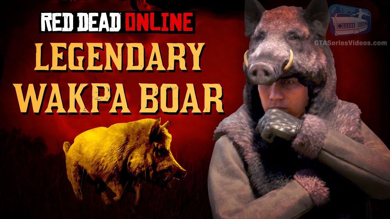 Red Dead Online - Legendary Wakpa Boar Location [Animal Field Guide]