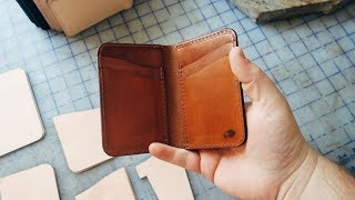 How we make our BEST selling leather wallet