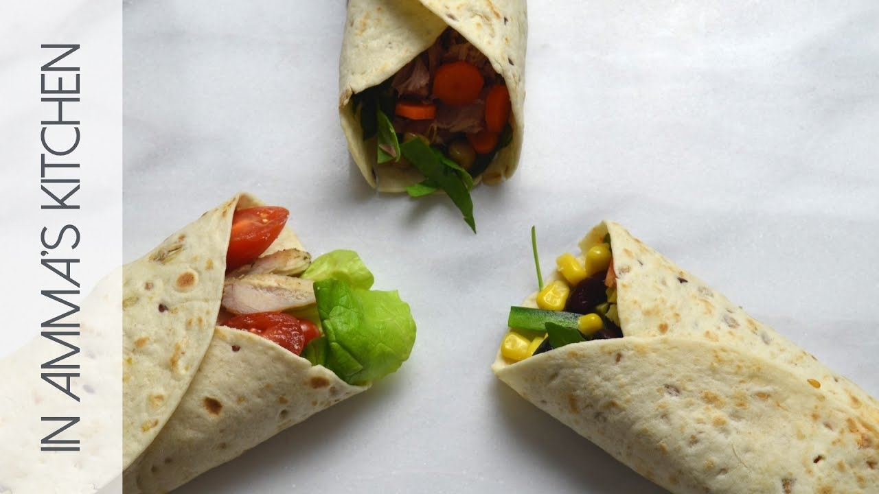 3 Simple Lunch Wrap Ideas - YouTube