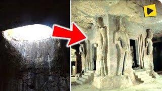 Ninguém sabe quem construiu isso dentro de cavernas na China!