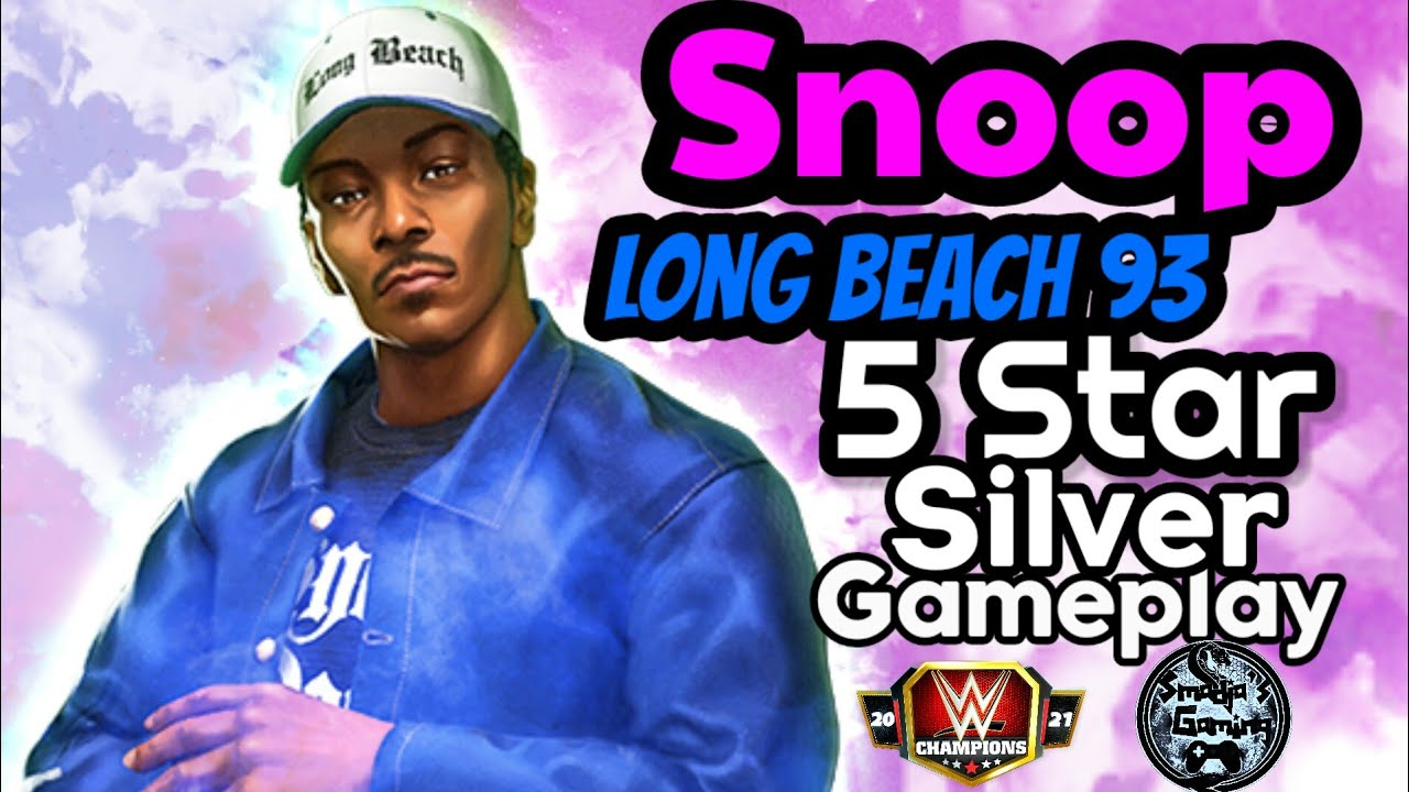😵 Character Preview SnoOP Dogg Long Beach 93 5 Star Silver Gameplay / WWE Champions