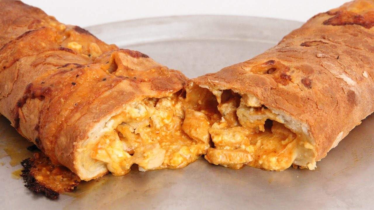 Buffalo Chicken Stromboli Recipe - Laura Vitale - Laura in the Kitchen ...