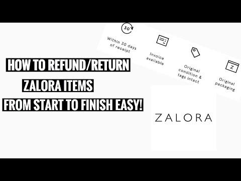 Cara Retur atau Mengembalikan barang dari ZALORA.