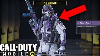 Call of Duty Mobile - UNLOCKING EPIC GHOST PLASMA CHARACTER SKIN!