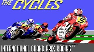 Grand Prix: The Cycles gameplay (PC Game, 1989)