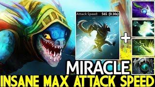 MIRACLE [Slark] Crazy Monster +300 Agi Max Attack Speed 7.23 Dota 2