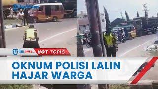 Video Detik-detik Oknum Polisi Lalu Lintas di Sumut Hajar Warga di Tengah Jalan hingga Terkapar