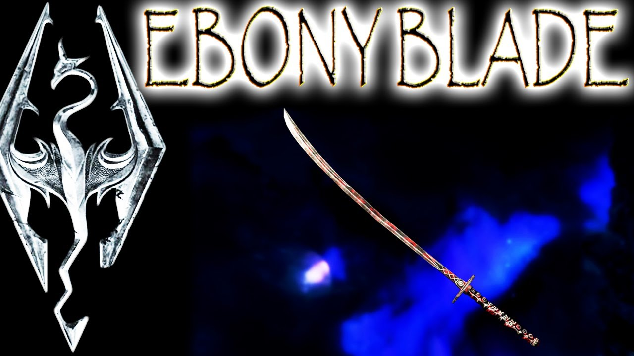 Skyrim Daedric Artifacts - Ebony Blade (\ The Whispering Door\  quest) - YouTube & Skyrim: Daedric Artifacts - Ebony Blade (\