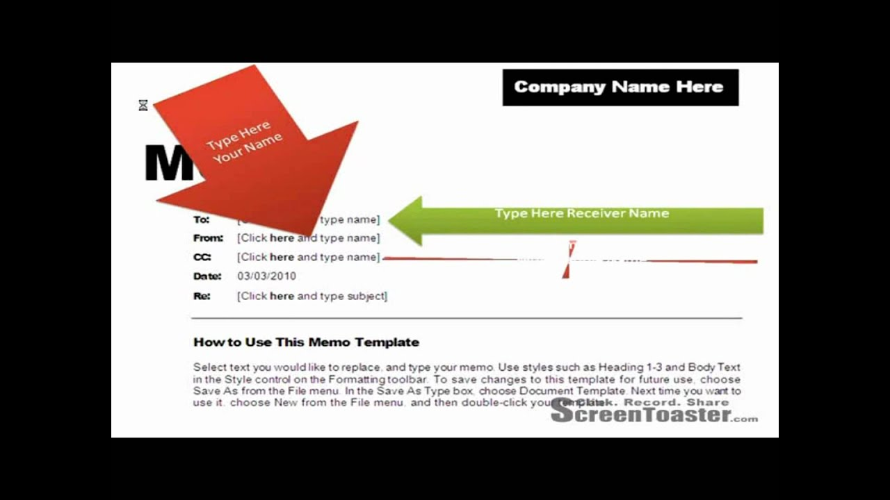How To Use Memo Template In Word 2007   YouTube  Memo Format On Word