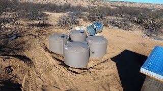 Rainwater Harvesting Tank Installation - Off Grid