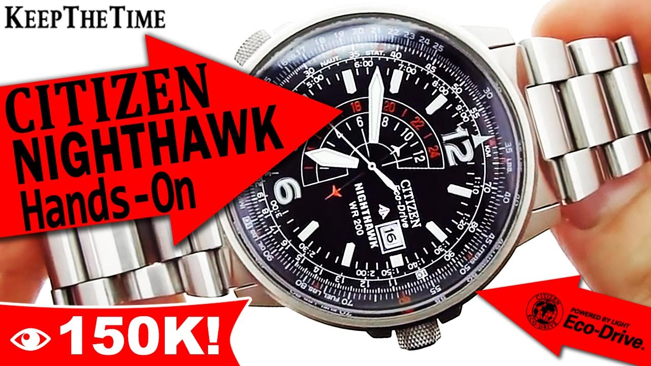 Citizen Nighthawk Wr 200 Eco Drive Watch Hands On Video Youtube