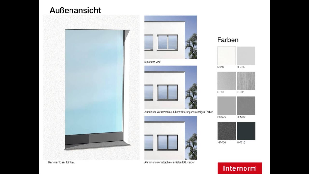 5 thermo design kf405 youtube for Internorm fenster