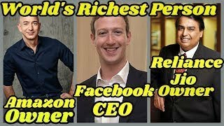 The Top 25 Richest People of the World | Net Worth | Assets | Property | 2019