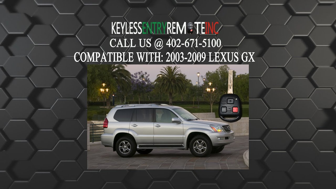 2004 Lexus Gx470 >> How To Replace Lexus GX Key Fob Battery 2003 2004 2005 ...