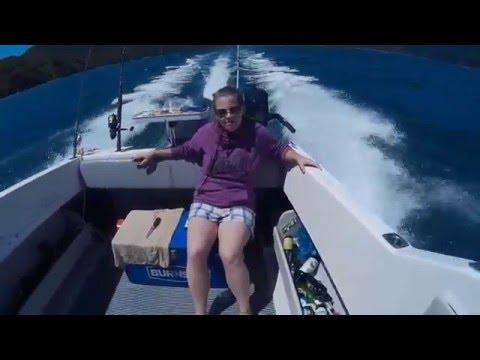 rybaření...  (boat fishing new zealand 2016, january)