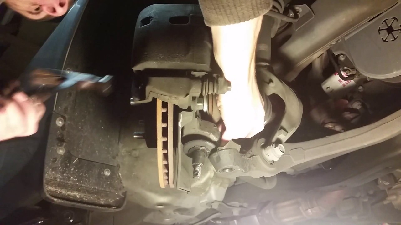 how to replace front cv axles - honda accord