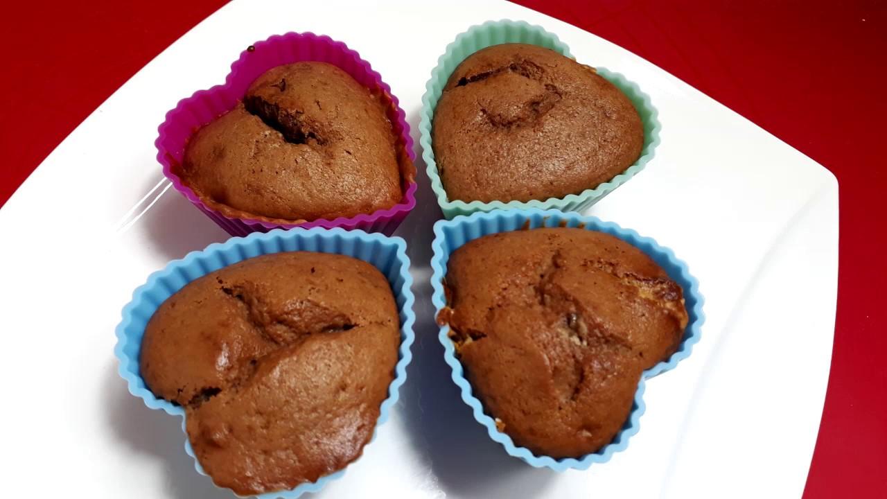 Schokomuffins mit Schokostückchen   Muffinteig mit Joghurt