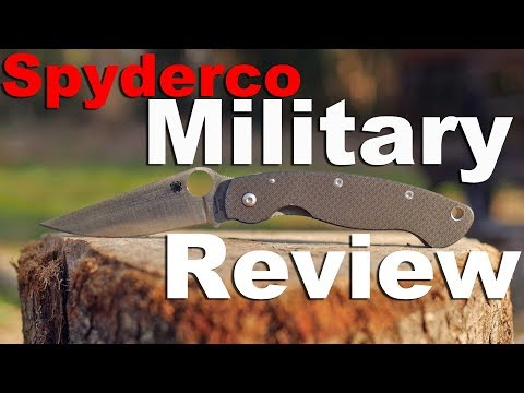 Spyderco Military Knife Review.  52100 steel, carbon fiber, and PM2 comparison