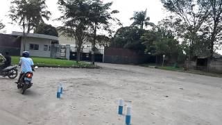 Simulasi Uji Peraktek SIM bersama LSDC di Jawilan
