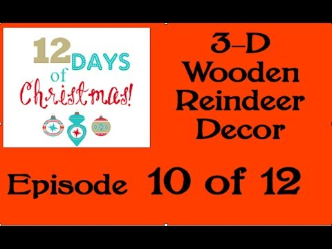 3 D Wooden Reindeer Decor