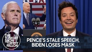 Mike Pence Delivers Lackluster Speech, Biden Loses Mask at Rally | The Tonight Show