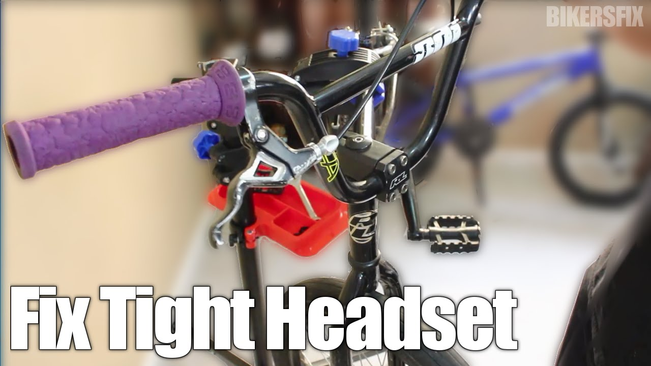 How To Fix Tight Bmx Headset Handlebars Doesn T Turn Spin Adjust