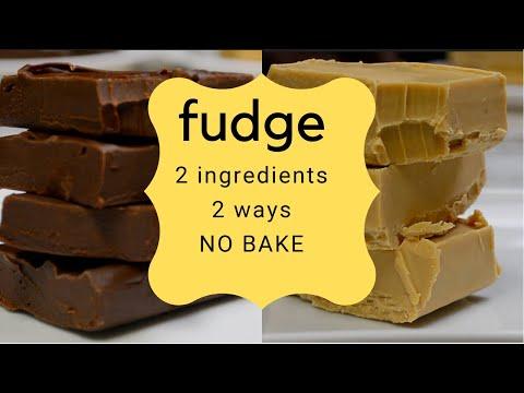 2 Ingredient Fudge   NO BAKE   SUPER EASY