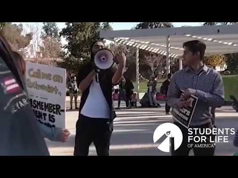 Cursing Pro-Choicer Harasses Pro-Life Students at Diablo Valley College