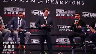 Errol Spence vs. Mikey Garcia - Full Los Angeles Press Conference & Face Off