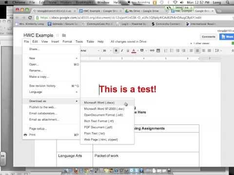 Edit and Save Google Docs